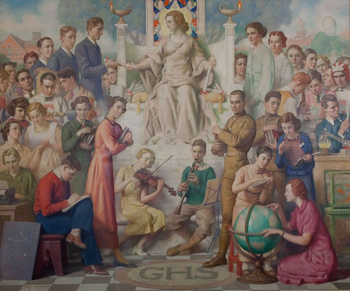 Mural restoration mural conservation alterpiece for Education mural