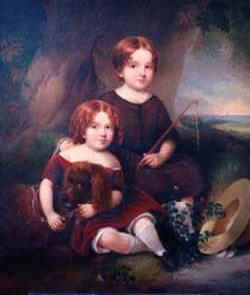 Children with Their Dog - after