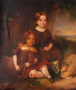 Children with Their Dog - before